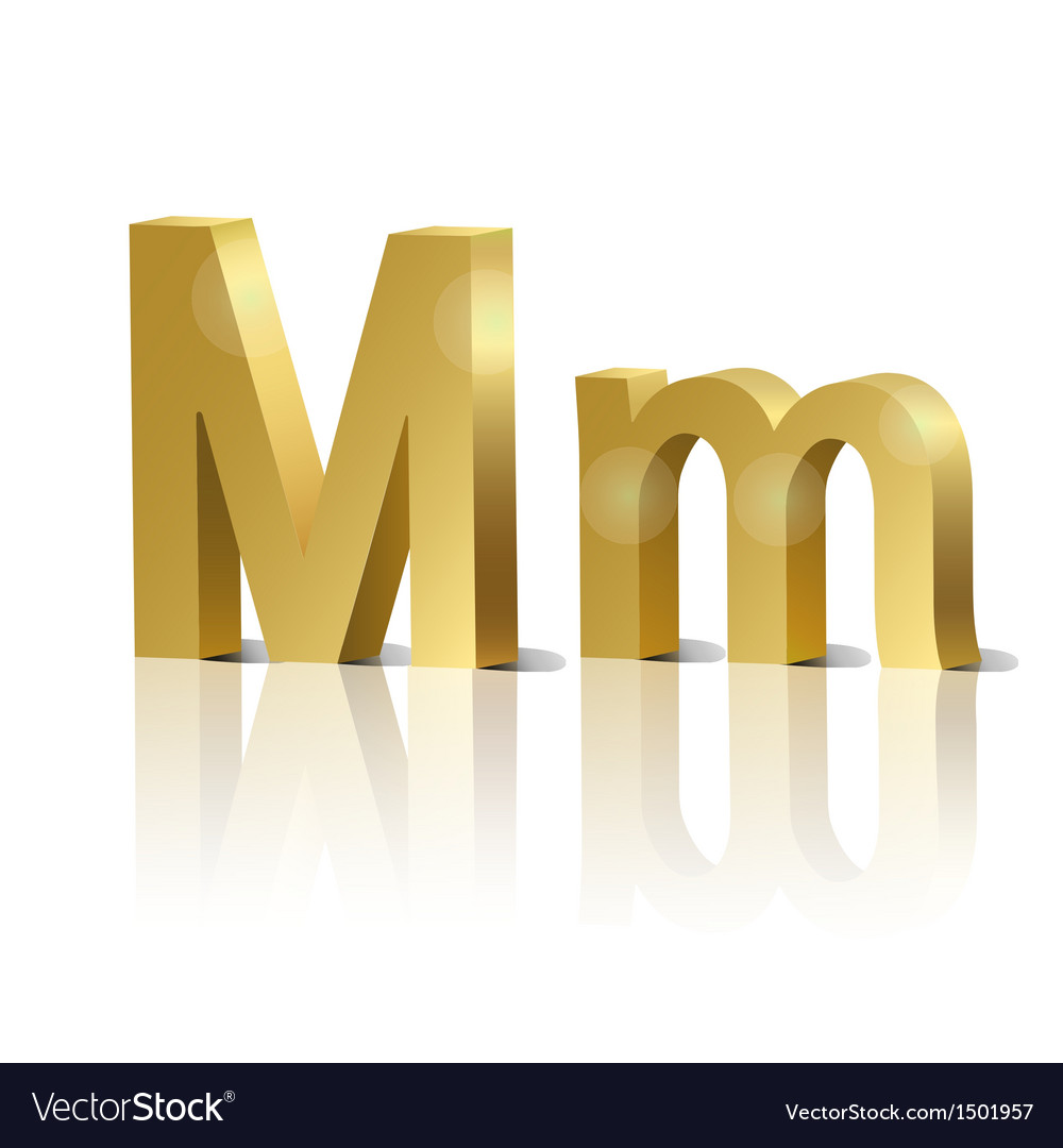 Golden letter m vector | Price: 1 Credit (USD $1)