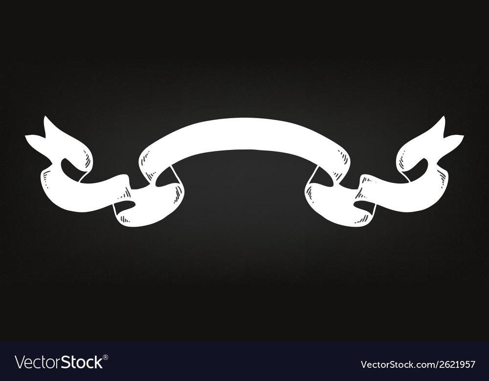 Hand drawn ribbon on the blackboard vector | Price: 1 Credit (USD $1)