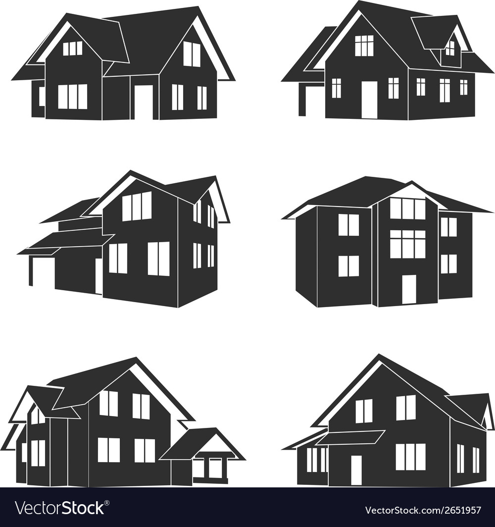 Houses icons vector | Price: 1 Credit (USD $1)