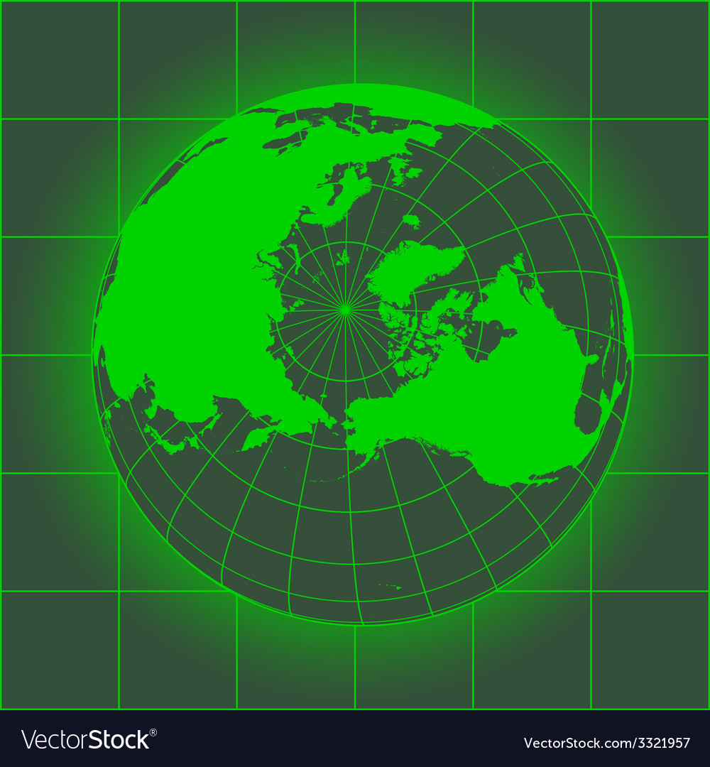 Norh pole green vector | Price: 1 Credit (USD $1)