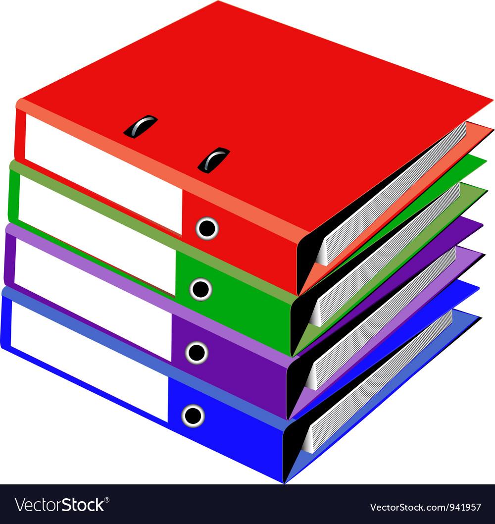 Ringbinder folder vector | Price: 1 Credit (USD $1)