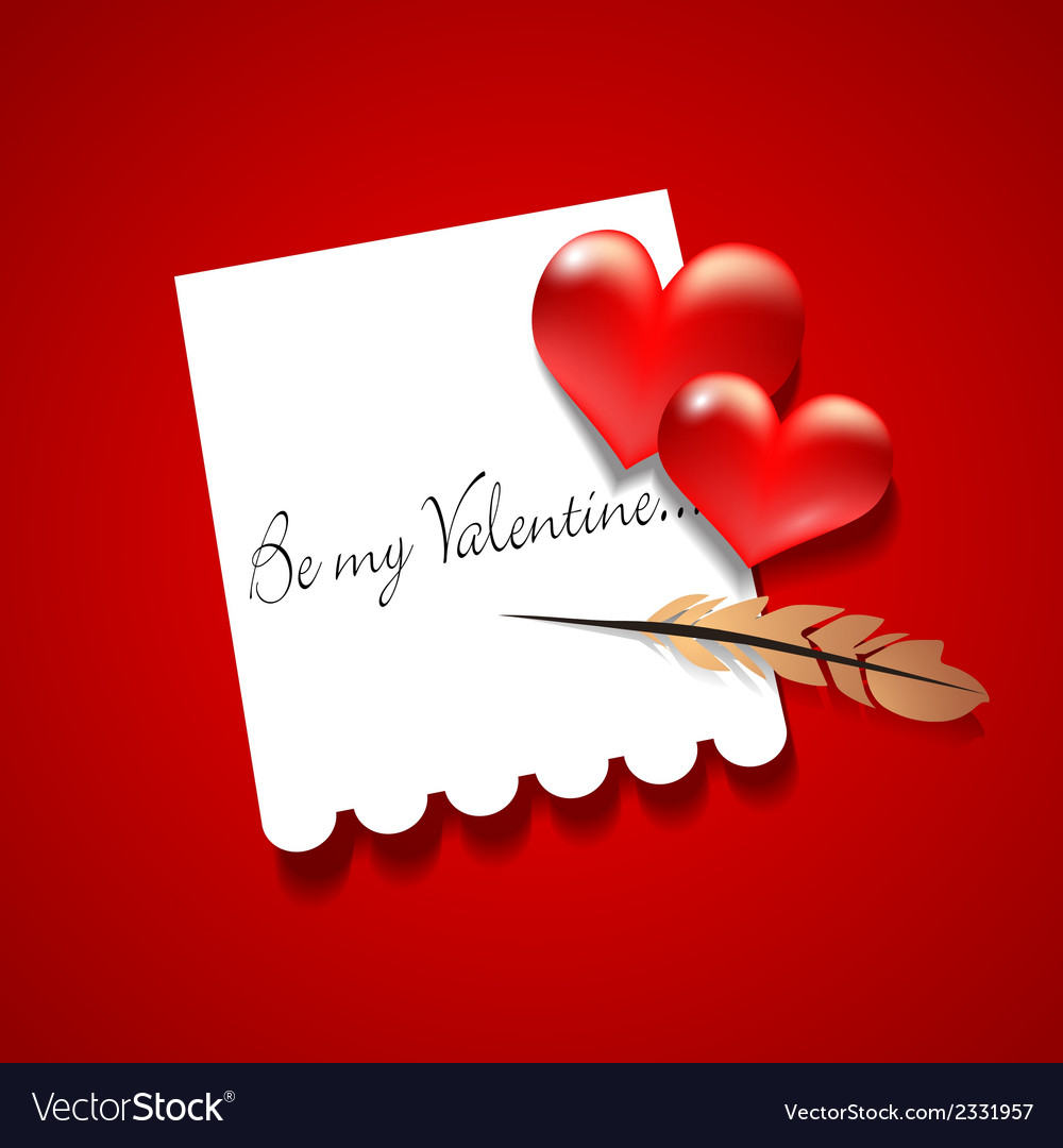Valentines greeting card vector   Price: 1 Credit (USD $1)
