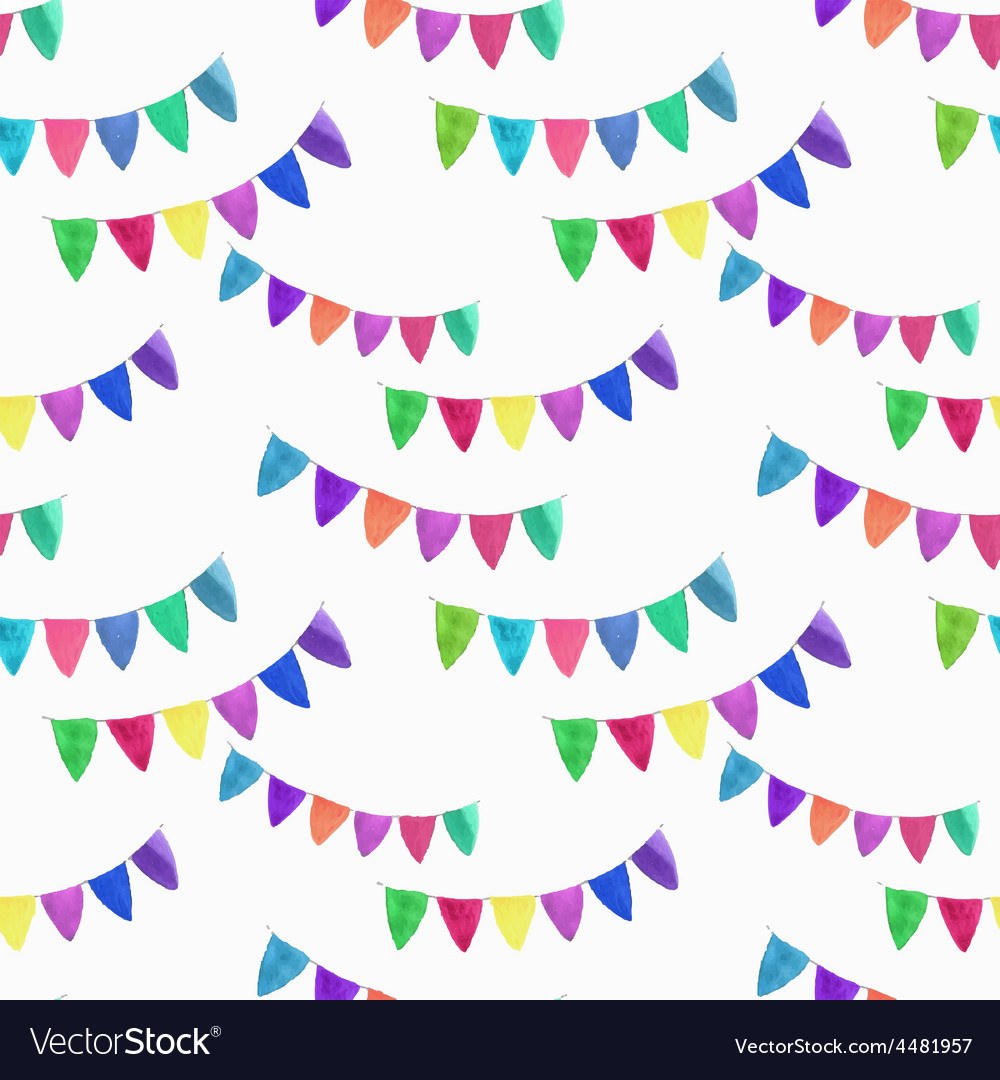 Watercolor seamless pattern with garlands on the vector | Price: 1 Credit (USD $1)