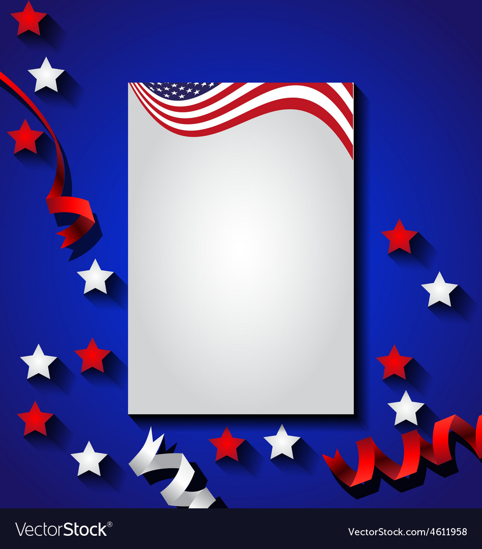 American flag background for independence day usa vector | Price: 1 Credit (USD $1)