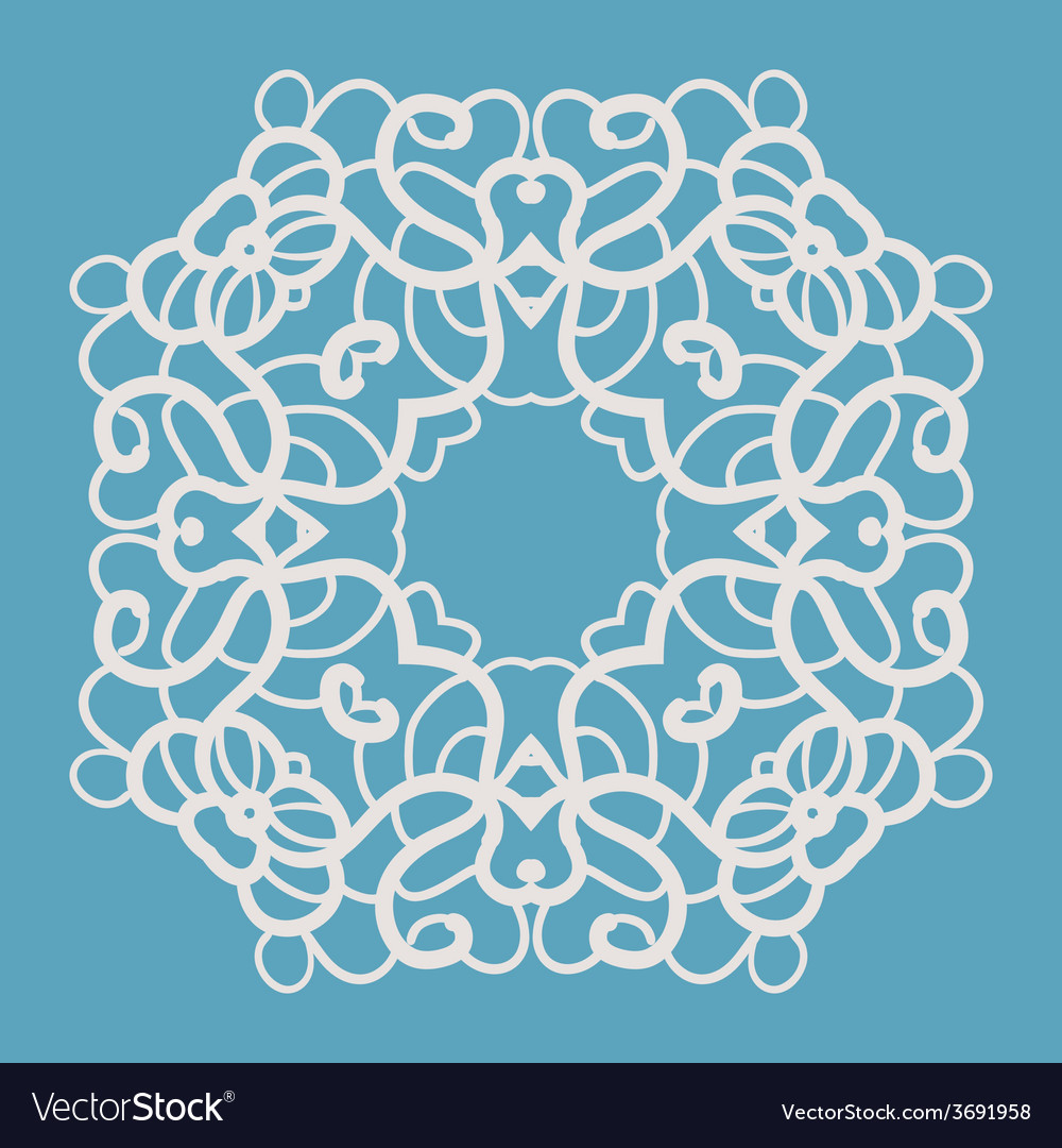 Blue indian ornament vector | Price: 1 Credit (USD $1)