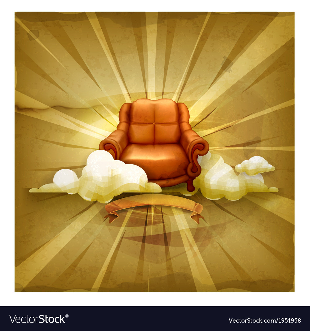 Chair old style background vector | Price: 1 Credit (USD $1)
