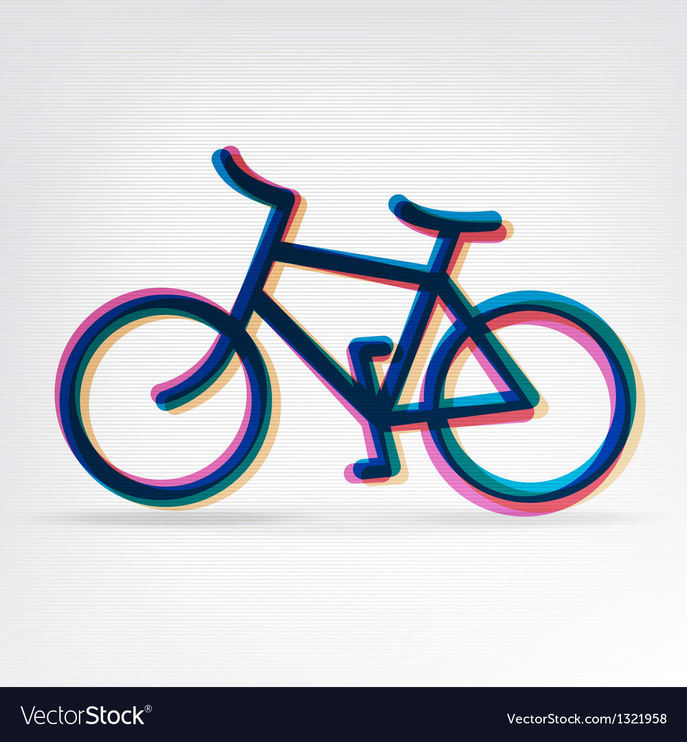 Colorful bicycle icon vector | Price: 1 Credit (USD $1)