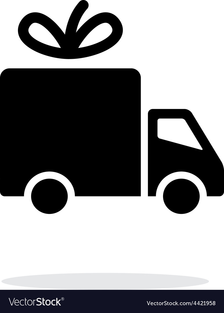 Delivery icon on white background vector | Price: 1 Credit (USD $1)