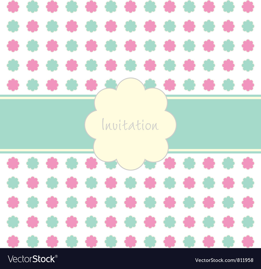 Floral invitation pattern vector | Price: 1 Credit (USD $1)
