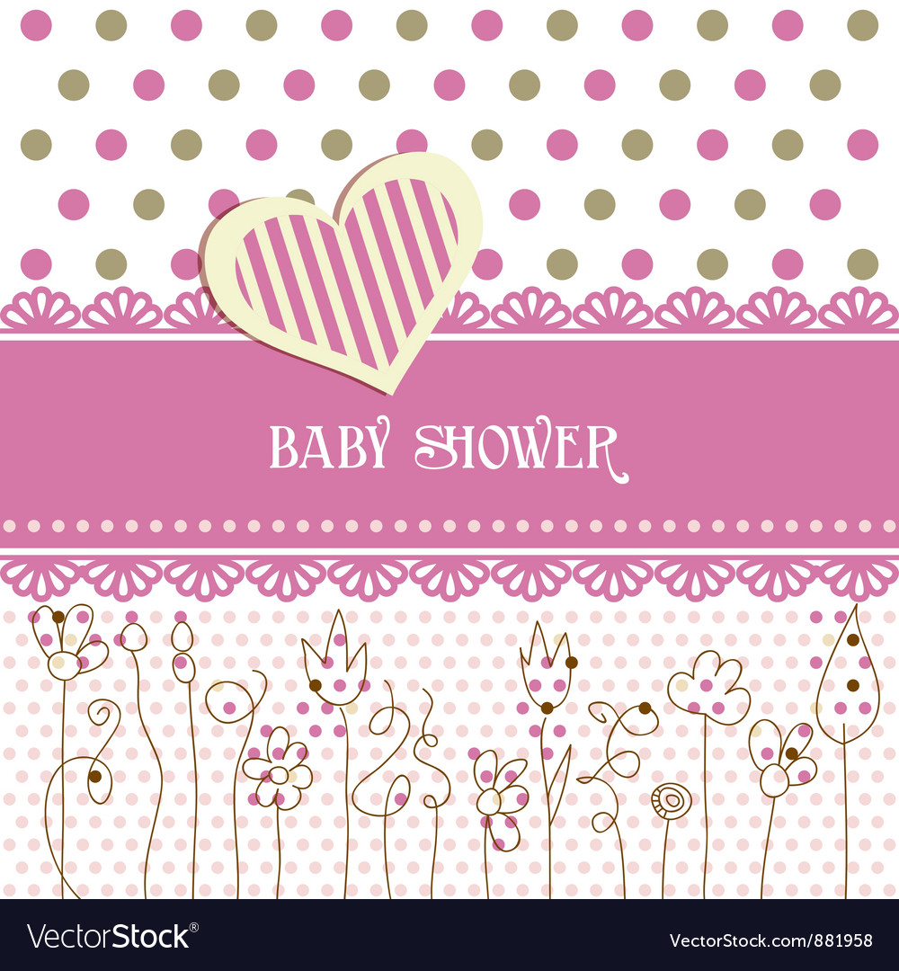 Lovely baby shower vector | Price: 1 Credit (USD $1)