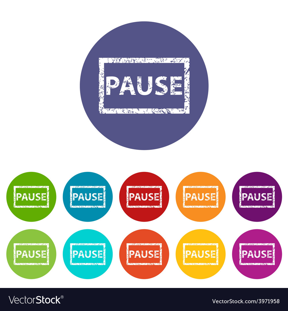 Pause flat icon vector | Price: 1 Credit (USD $1)