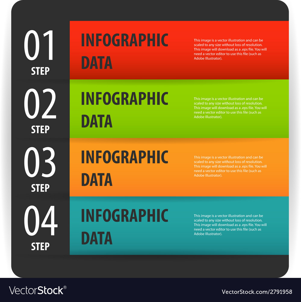 Simple modern infographics options banner box vector | Price: 1 Credit (USD $1)