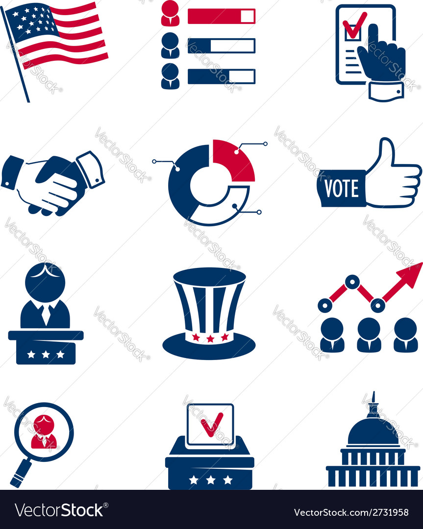 Voting and elections icons vector | Price:  Credit (USD $)