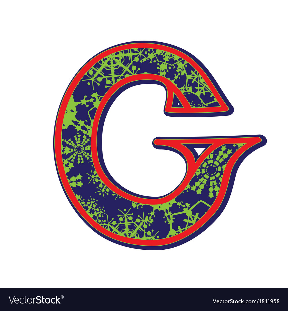 Winter letter g vector | Price: 1 Credit (USD $1)