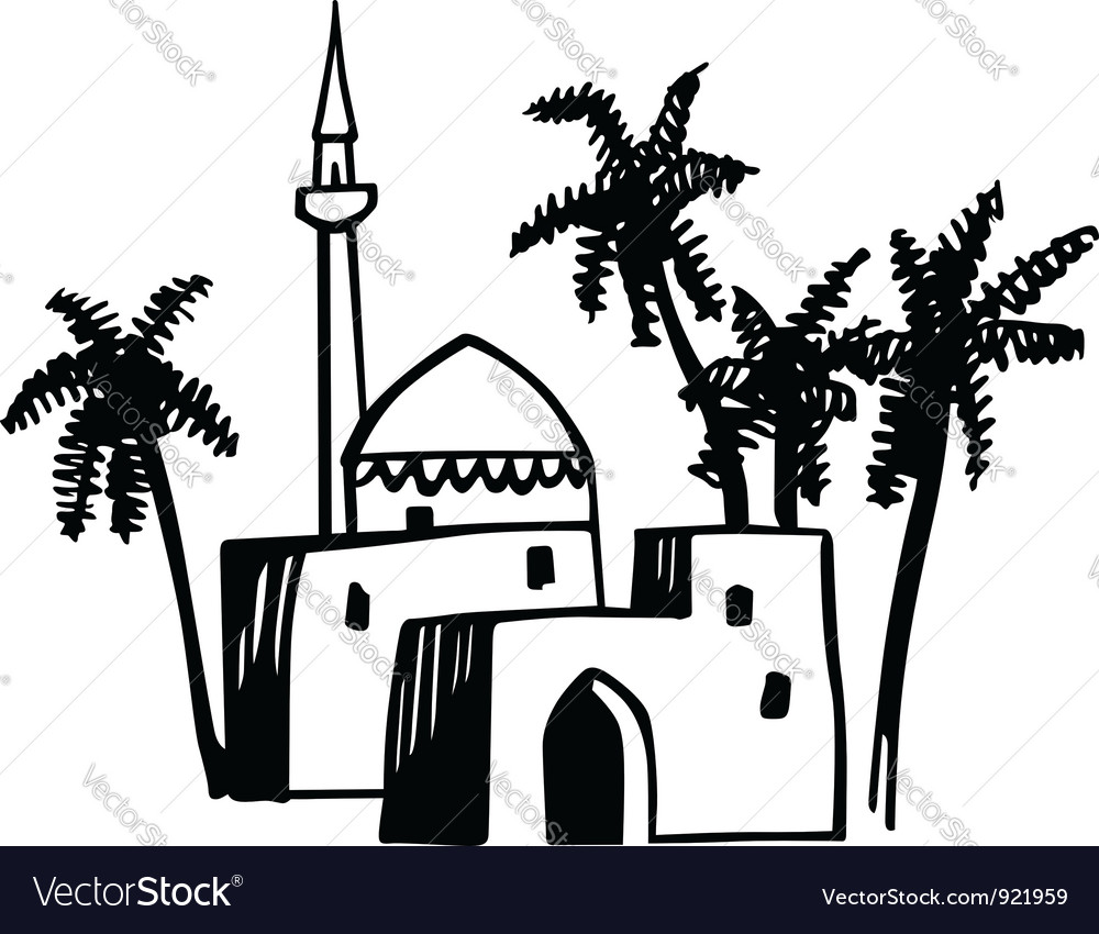 Arabic house vector | Price: 1 Credit (USD $1)