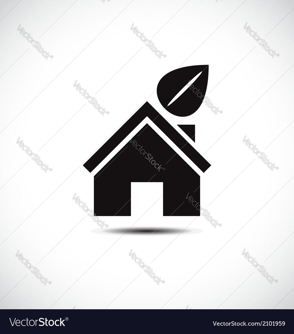 Bio green house icon vector   Price: 1 Credit (USD $1)