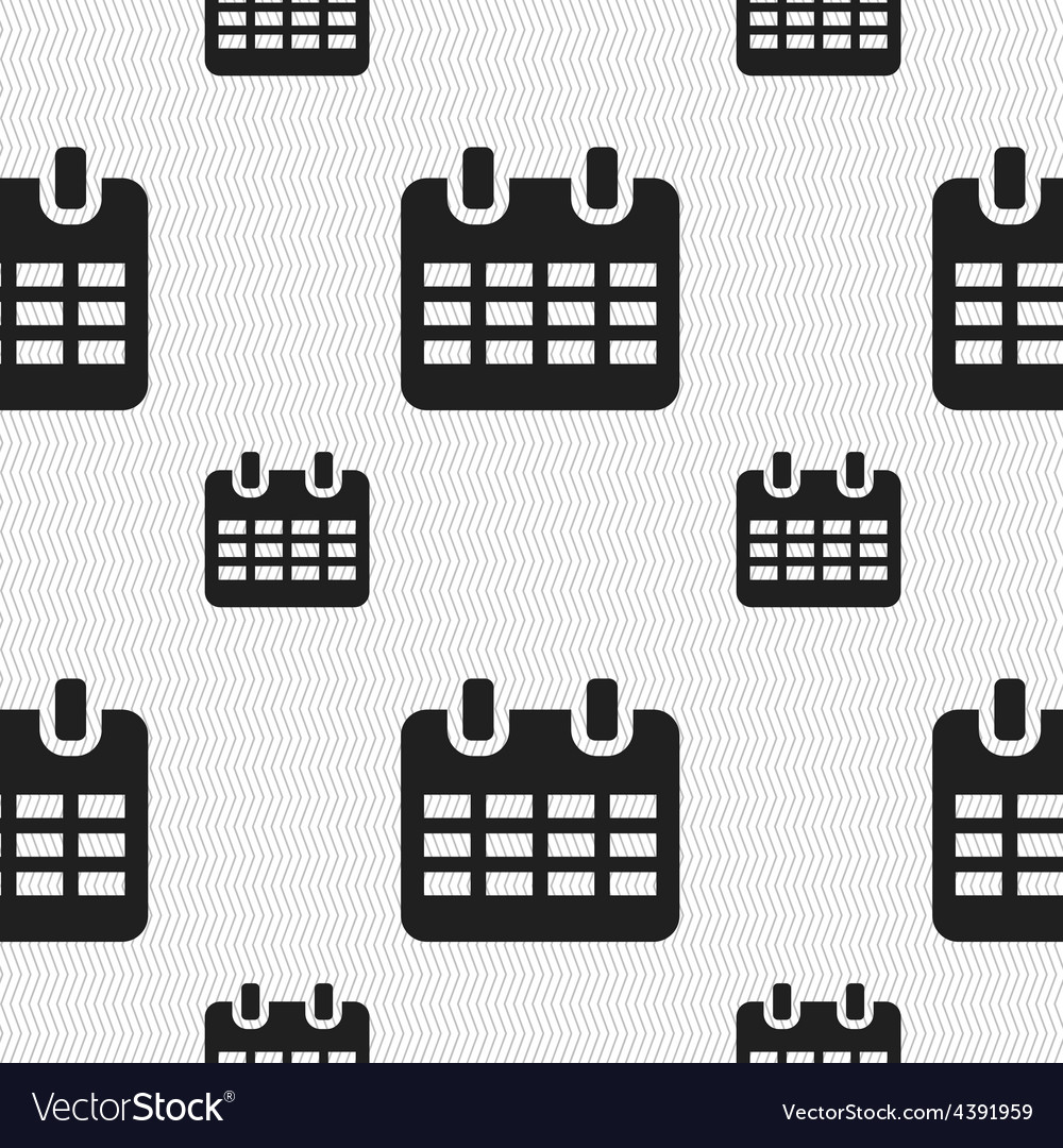 Calendar date or event reminder icon sign seamless vector | Price: 1 Credit (USD $1)