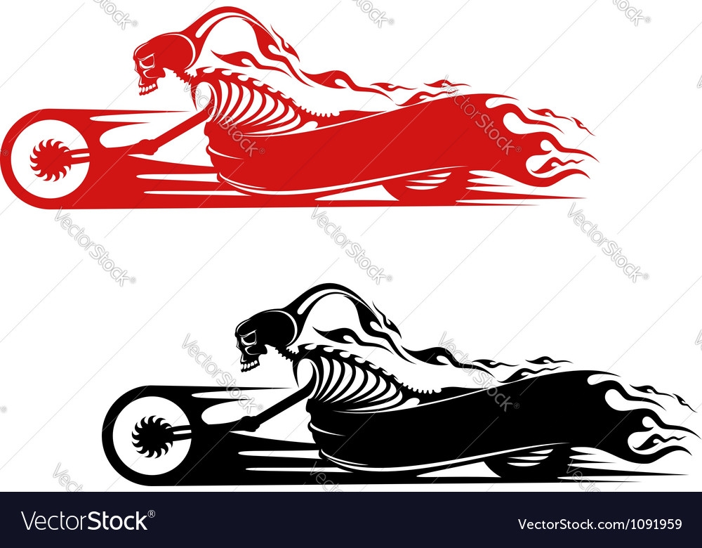 Death monster on motorcycle vector | Price: 1 Credit (USD $1)