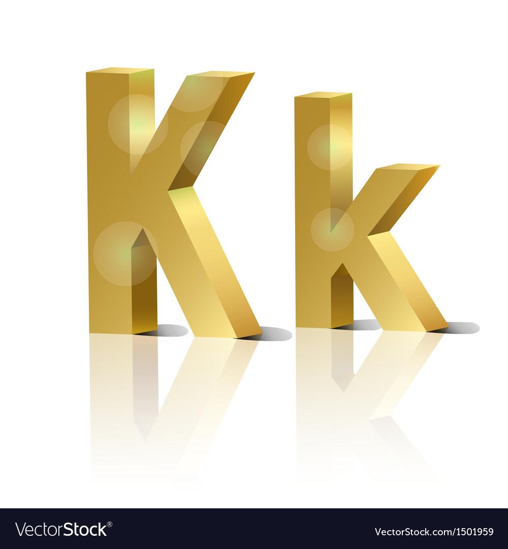 Golden letter k vector | Price: 1 Credit (USD $1)