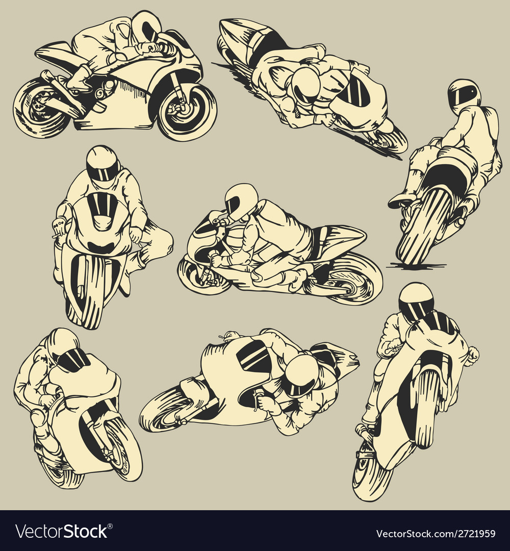 Motorcycle high speed action vector | Price: 1 Credit (USD $1)
