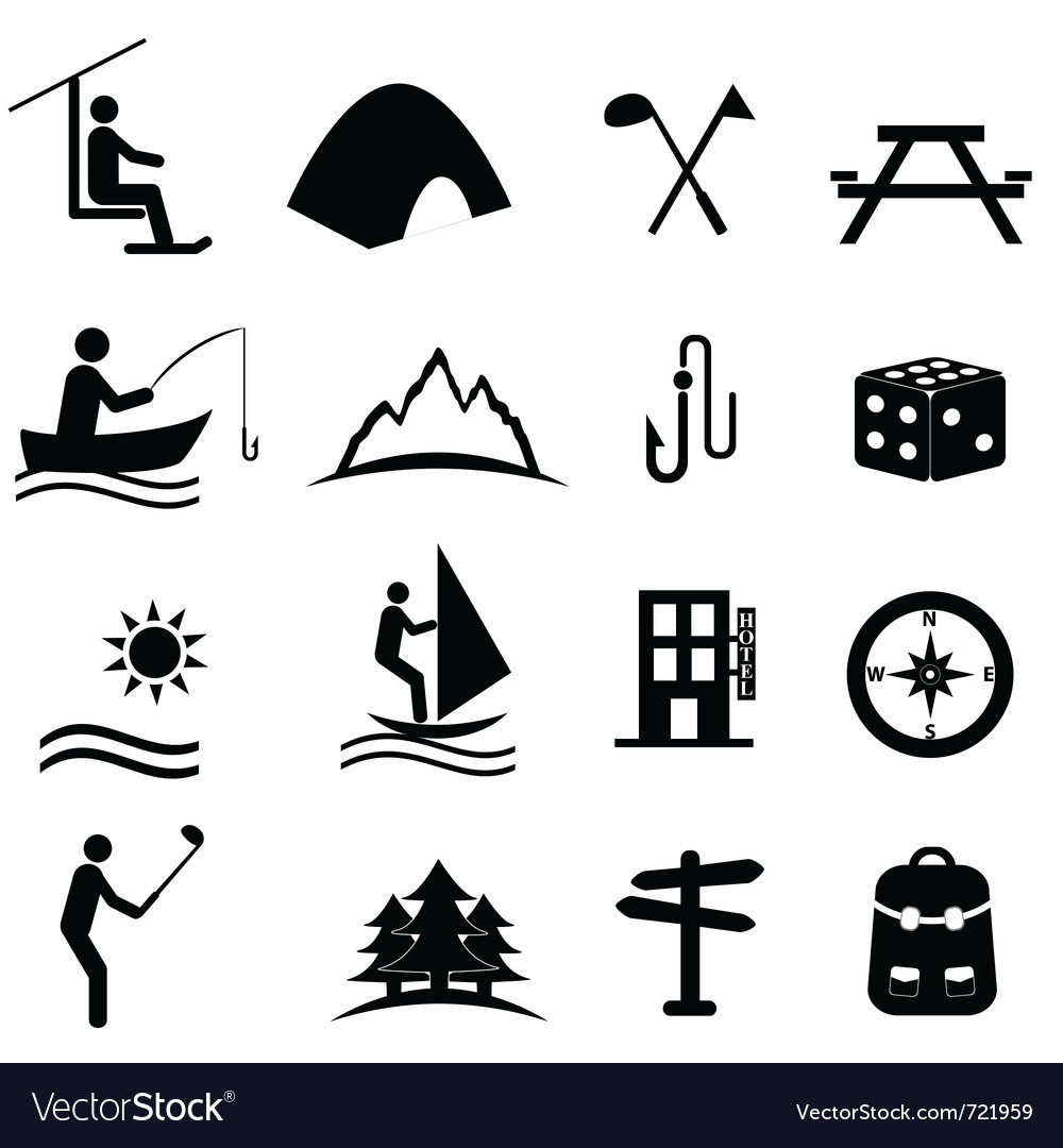 Outdoor activities vector | Price: 1 Credit (USD $1)