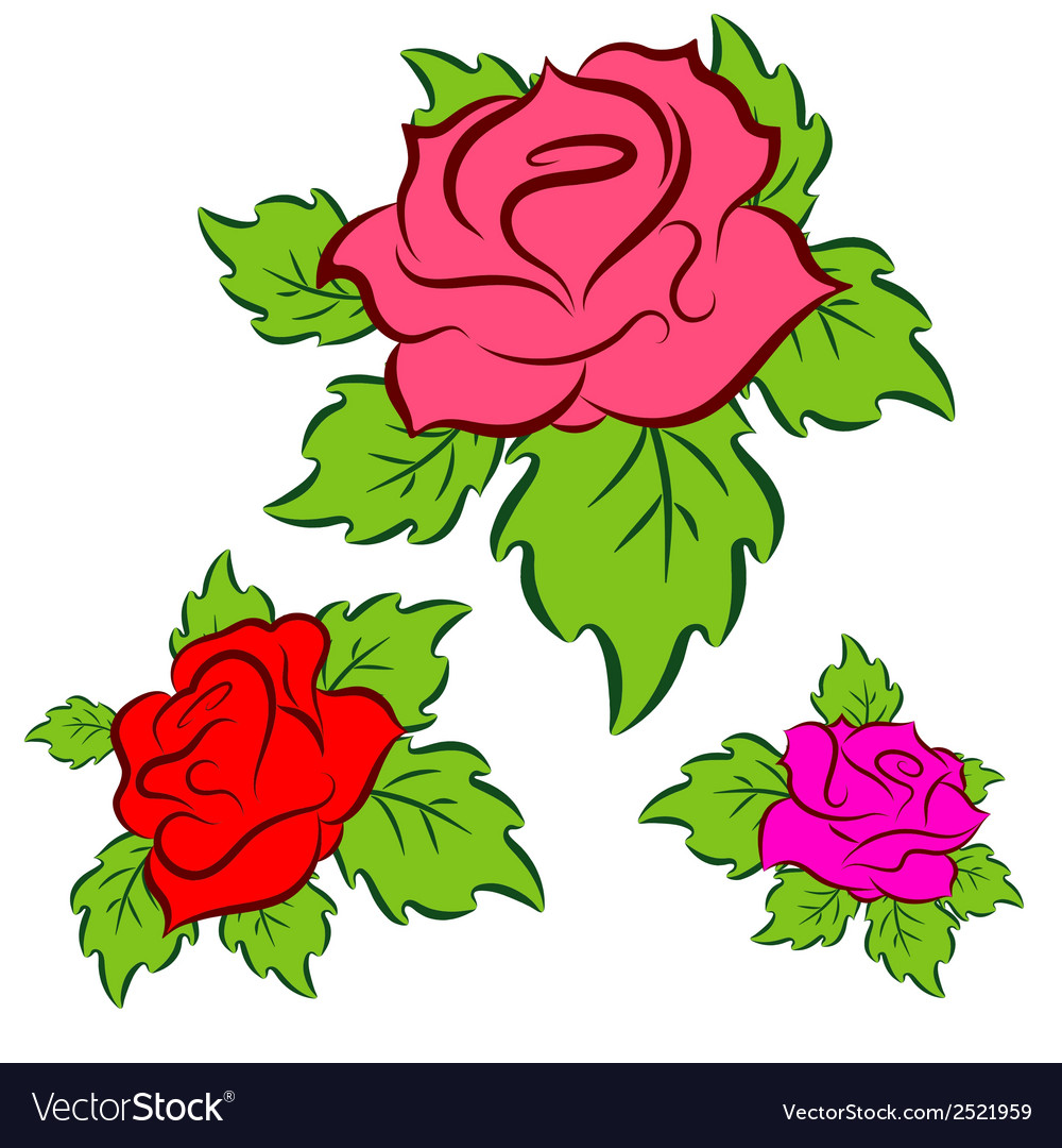 Roses set vector | Price: 1 Credit (USD $1)