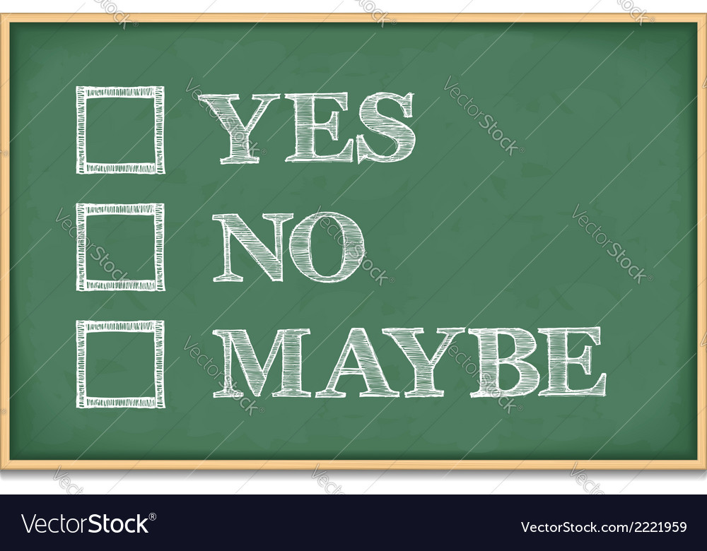 Yes no maybe vector | Price: 1 Credit (USD $1)