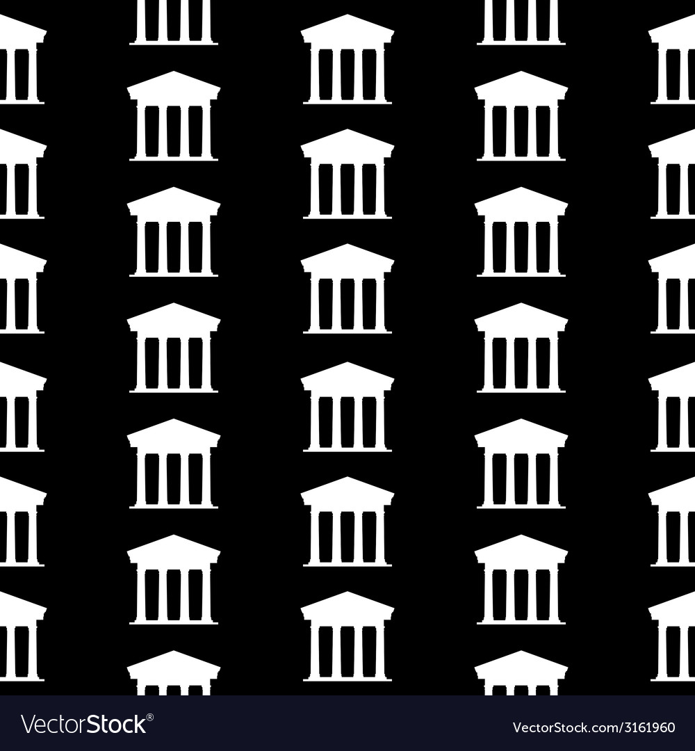 Bank symbol seamless pattern vector | Price: 1 Credit (USD $1)