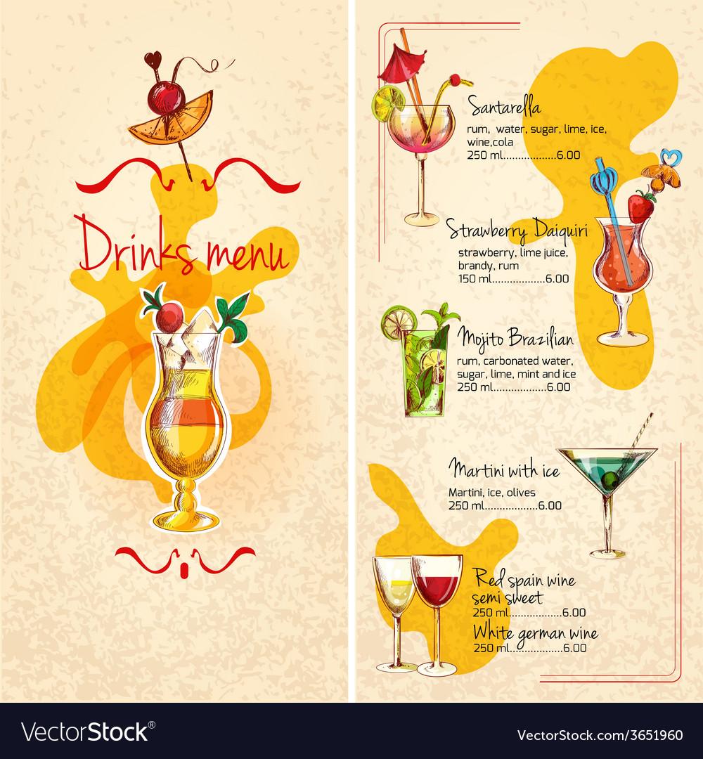 Bar menu sketch vector | Price: 1 Credit (USD $1)