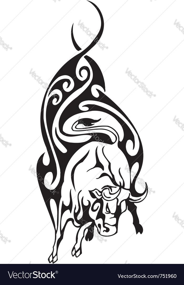 Bull in tribal style - image vector | Price: 1 Credit (USD $1)