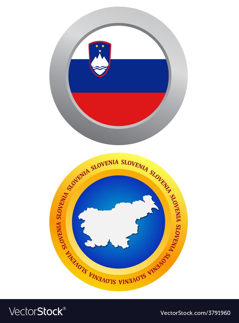 Button as a symbol slovenia vector | Price: 1 Credit (USD $1)