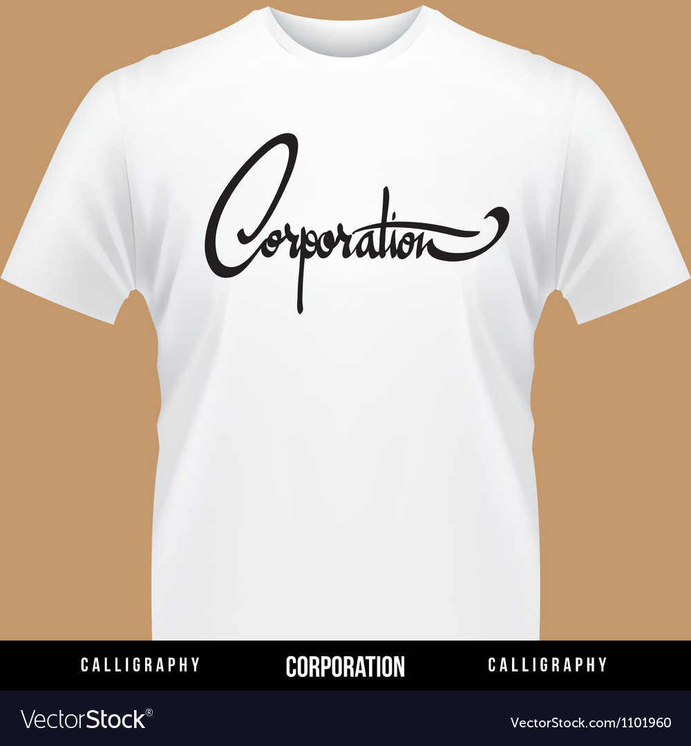 Corporation hand lettering - handmade calligraphy vector | Price: 1 Credit (USD $1)