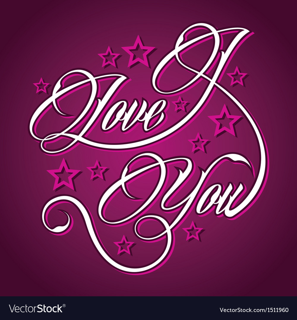 Creative i love you greeting vector | Price: 1 Credit (USD $1)