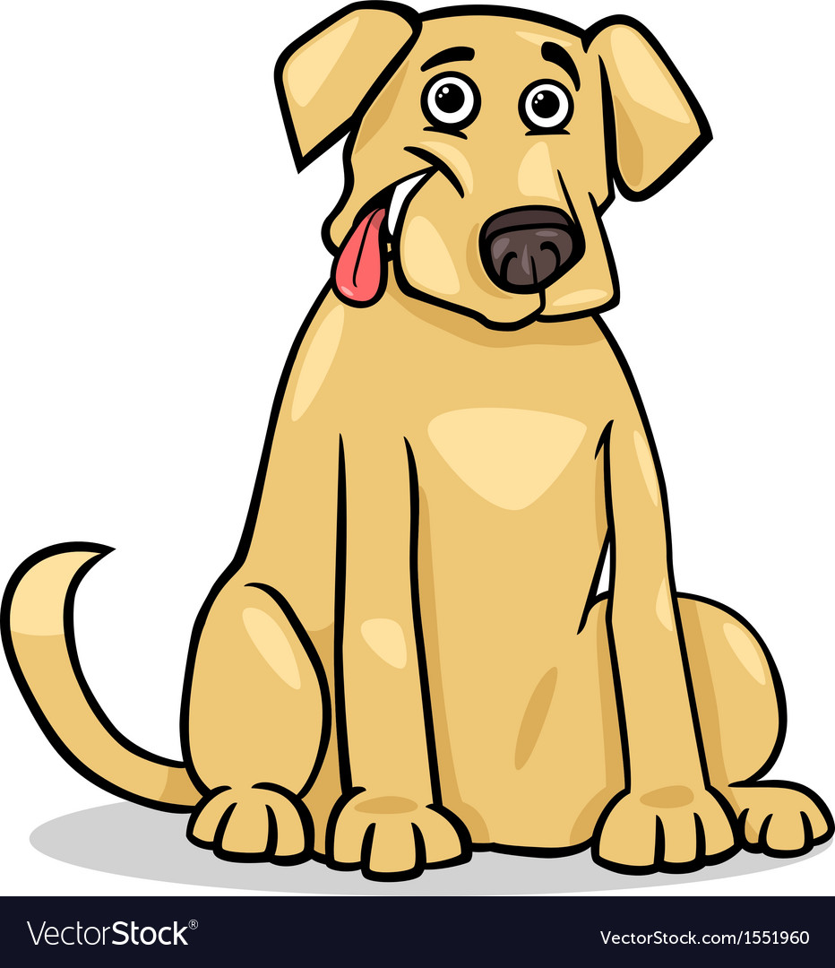 Labrador retriever dog cartoon vector | Price: 1 Credit (USD $1)