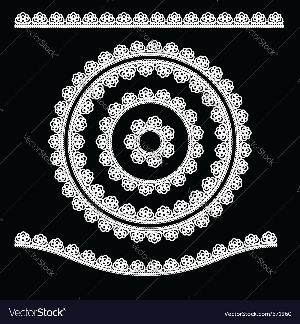 Ornamental lace element vector | Price: 1 Credit (USD $1)
