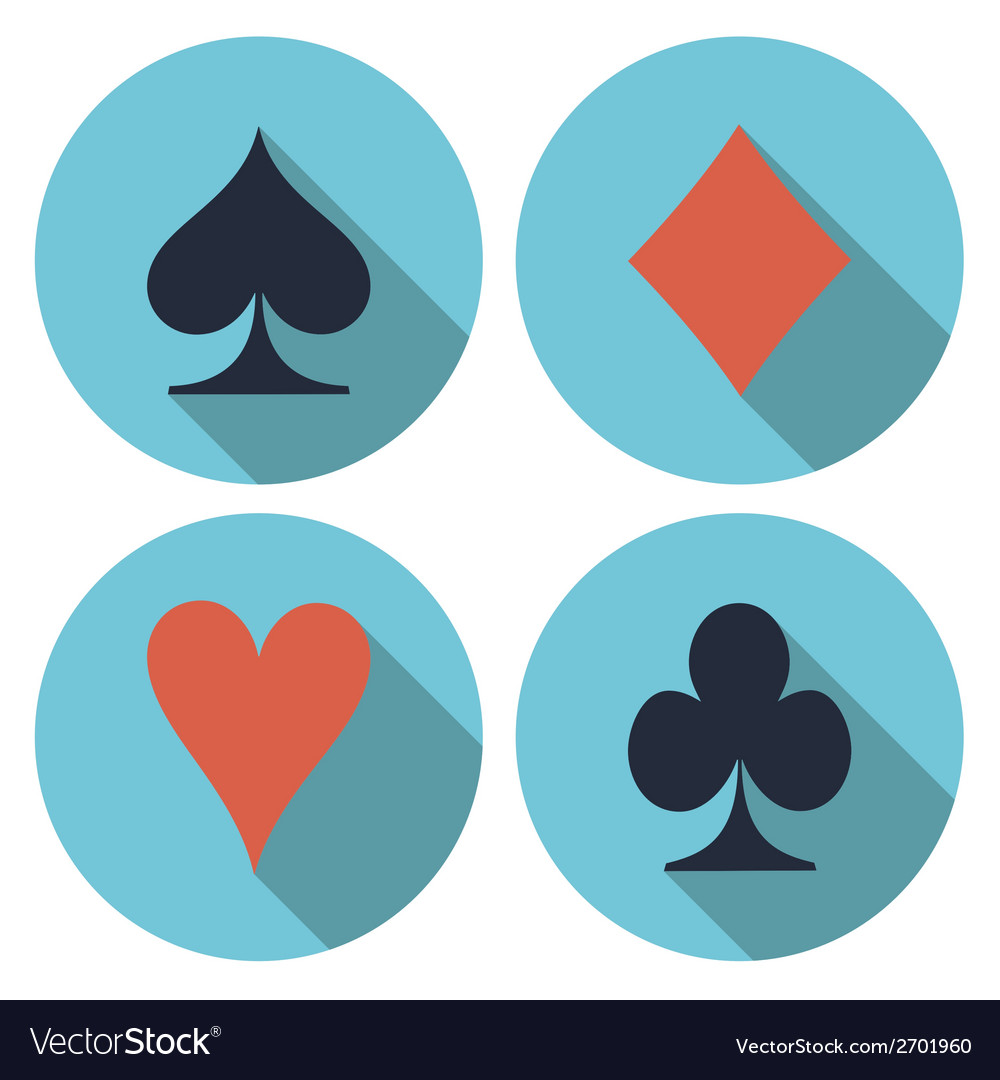 Playing cards flat vector | Price: 1 Credit (USD $1)