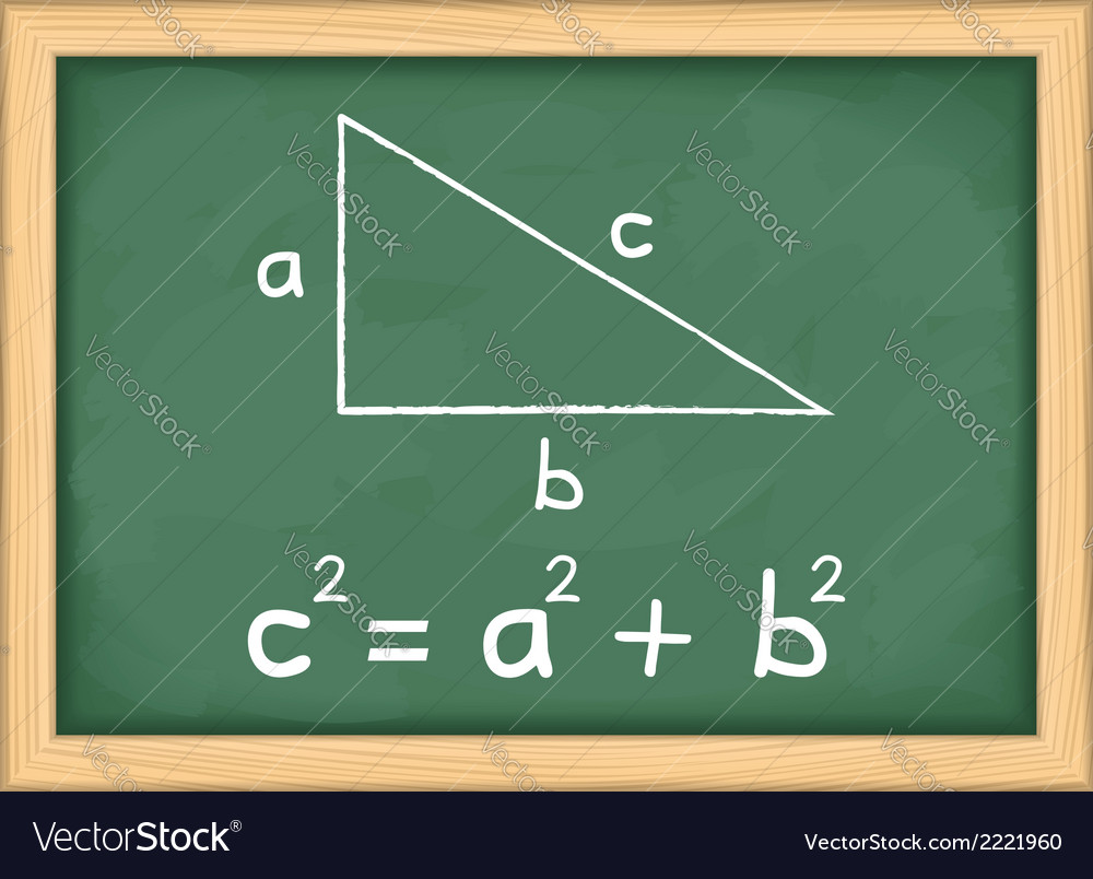 Pythagoras theorem vector | Price: 1 Credit (USD $1)
