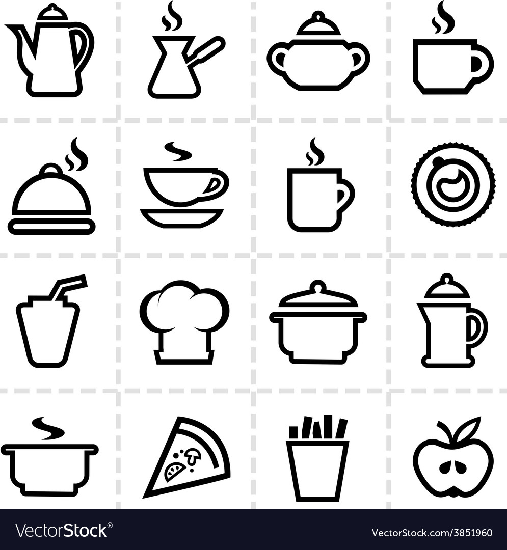 Simple food icons vector | Price: 1 Credit (USD $1)