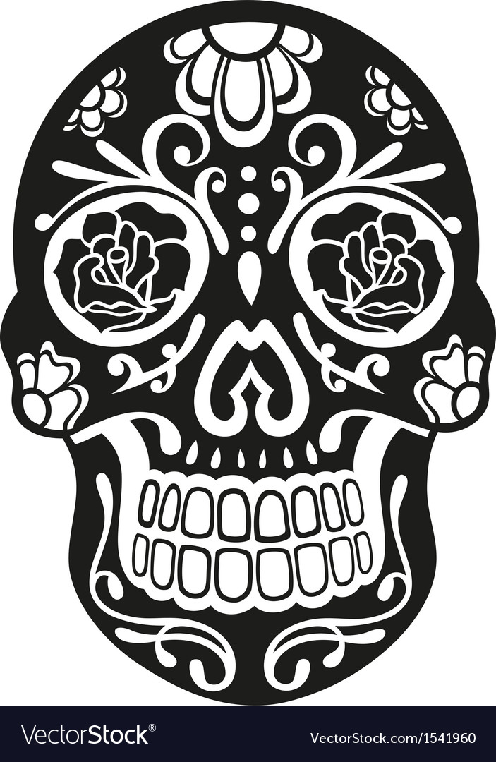 Sugar skull vector | Price: 1 Credit (USD $1)