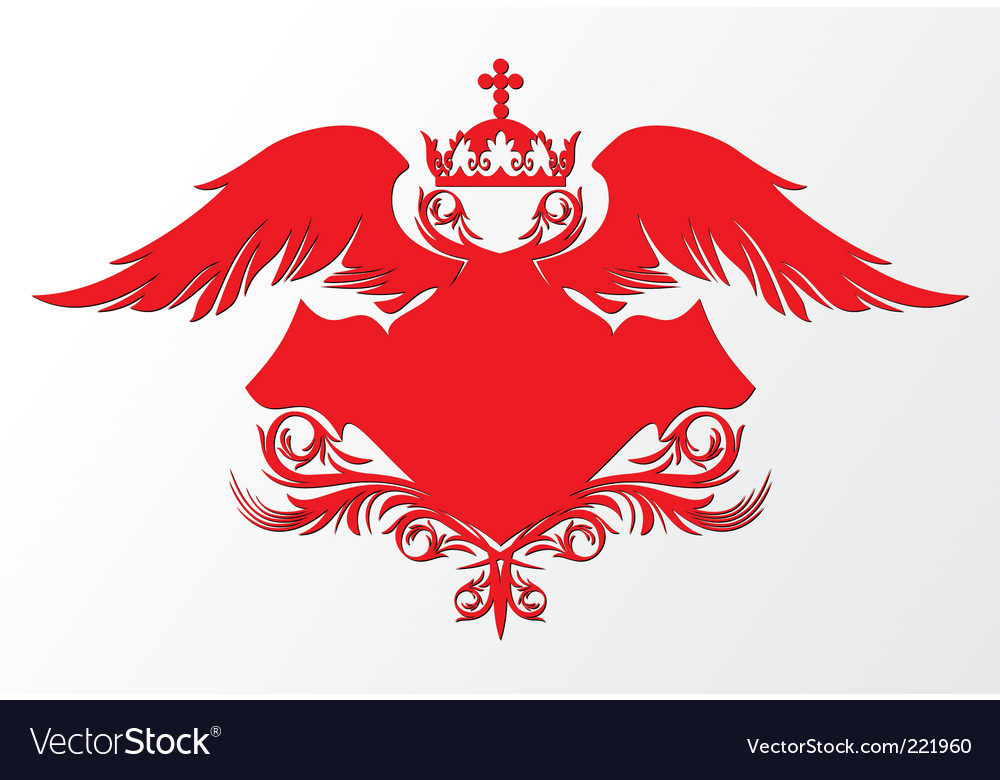 Winged shield vector | Price: 1 Credit (USD $1)