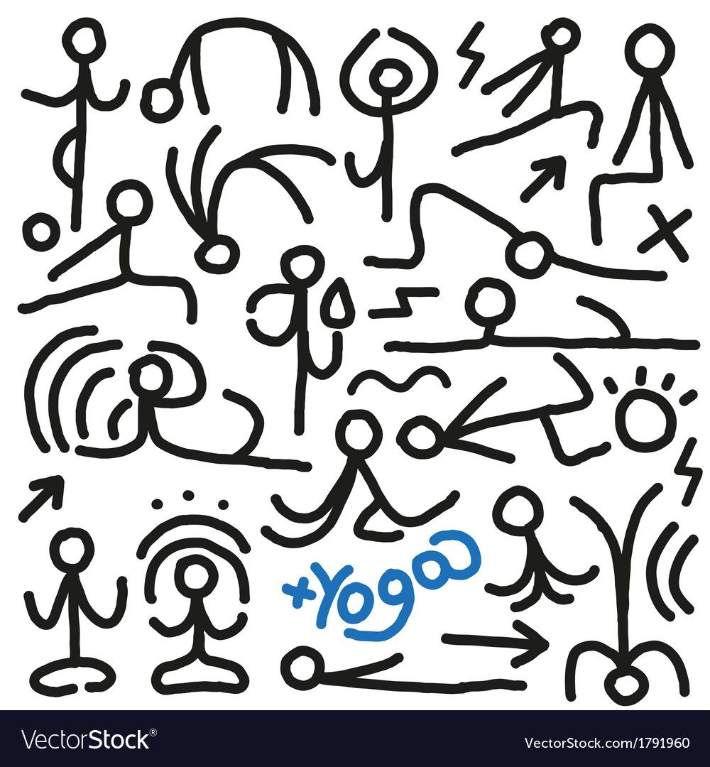 Yoga doodles vector | Price: 1 Credit (USD $1)