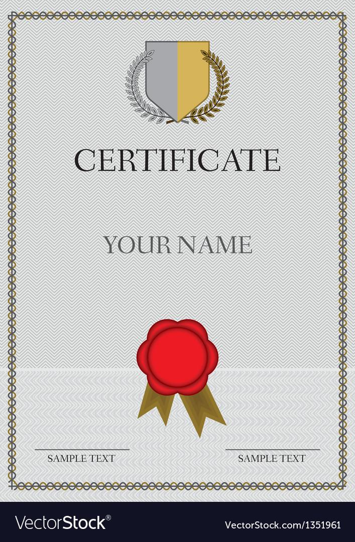 Certificate vector | Price: 1 Credit (USD $1)
