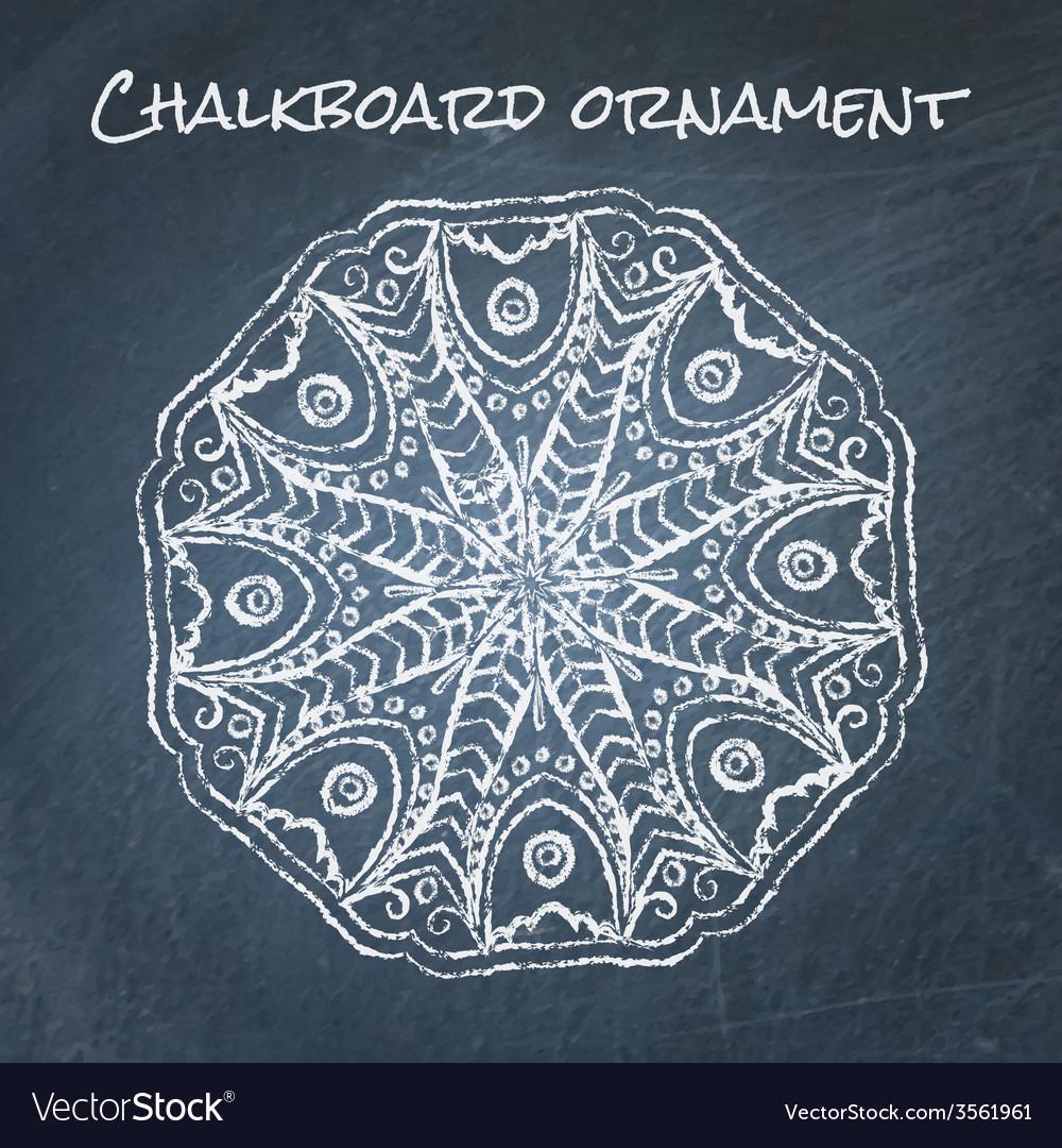 Chalkboard ornament vector | Price: 1 Credit (USD $1)