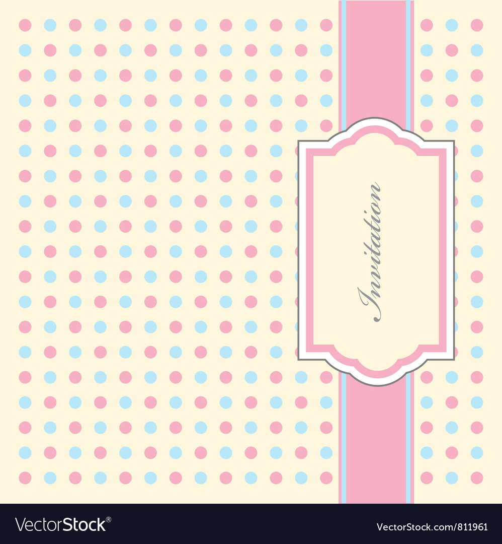 Dotty invitation pattern vector | Price: 1 Credit (USD $1)