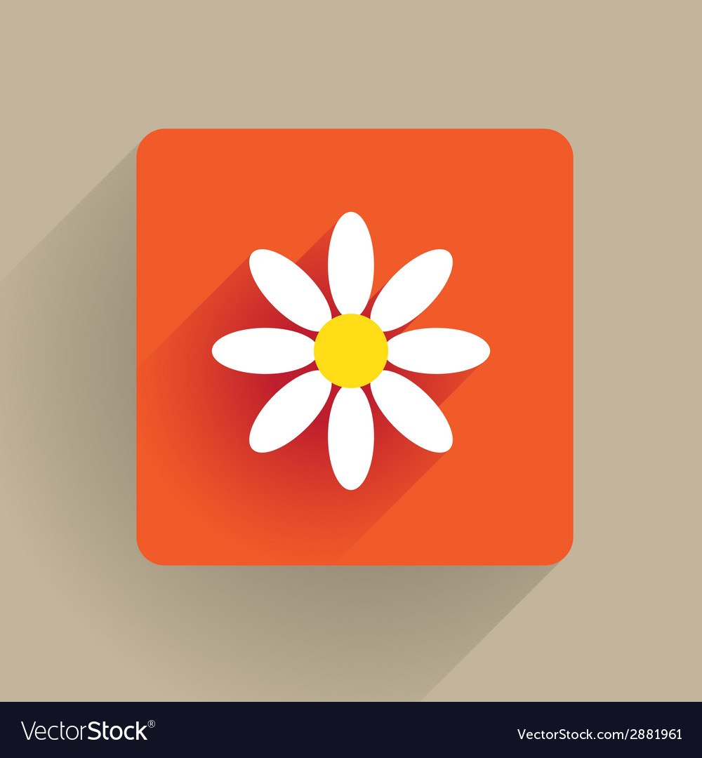 Flower flat vector | Price: 1 Credit (USD $1)