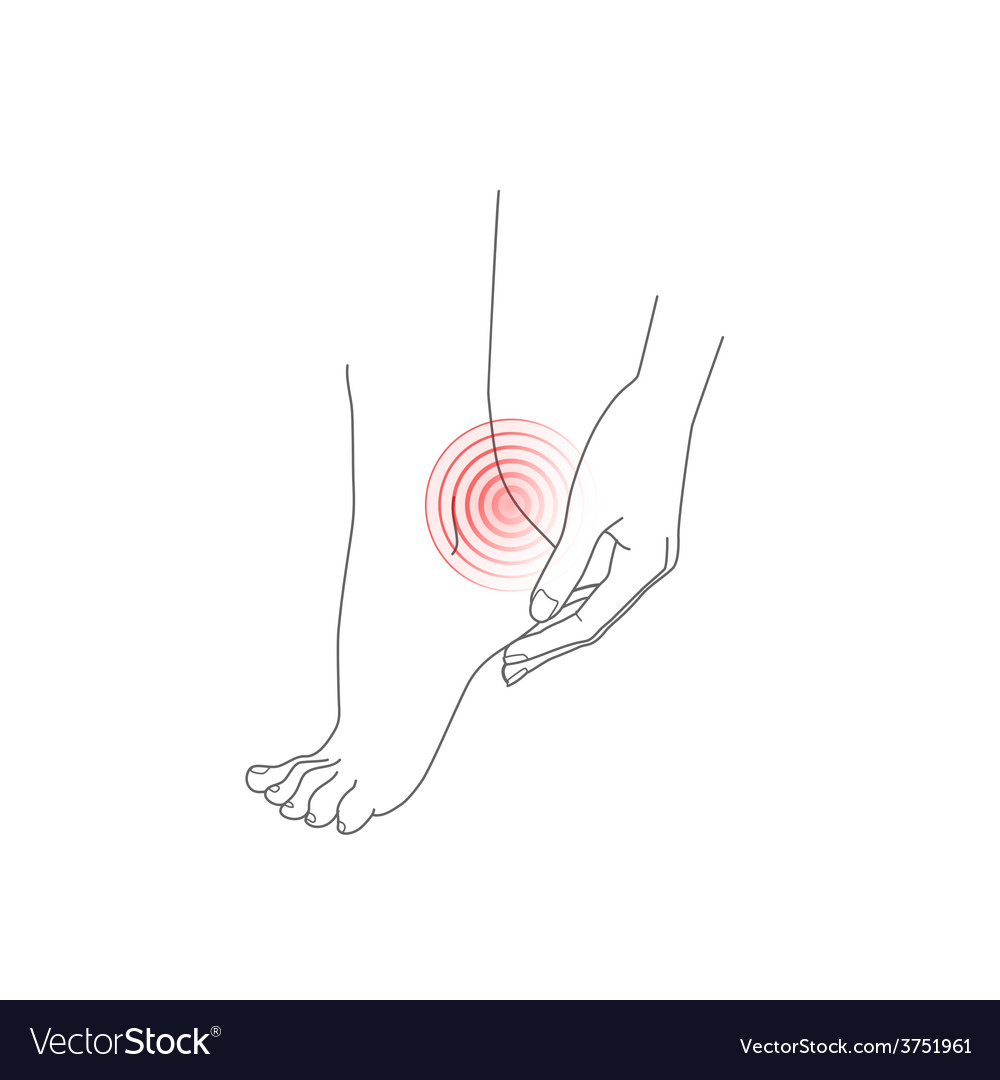 Hand and foot pain feet vector | Price: 1 Credit (USD $1)