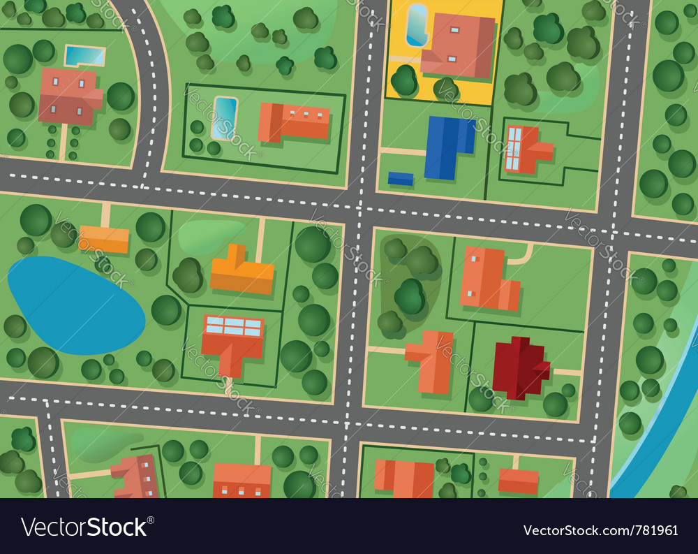 Map of suburb district vector | Price: 1 Credit (USD $1)