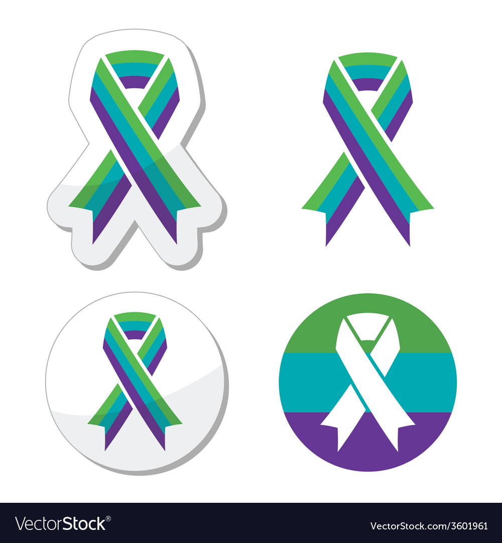 Medullary sponge kidney msk awareness ribbon vector | Price: 1 Credit (USD $1)