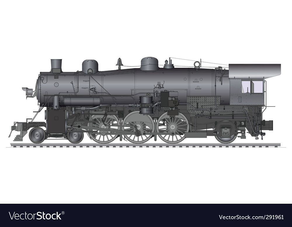 Old locomotive vector | Price: 3 Credit (USD $3)
