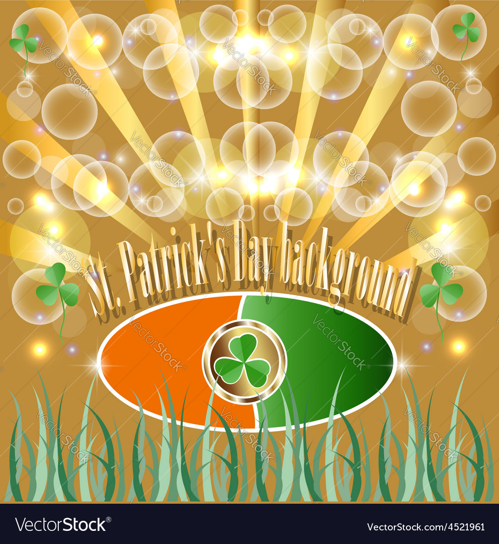 St patrick put the clover good luck traditionally vector   Price: 1 Credit (USD $1)